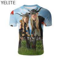 Homens t - shirts Yelite 2021 Como treinar seu dragão camiseta T Shirt 3D Imprimir Anime Impresso Tops Engraçado Manga Cool O-Neck Roupa