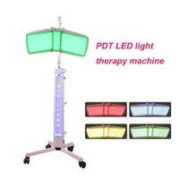 أعلى جودة الطابق الدائمة برو آلة PDT PHOTON FACIAL الجلد تجديد أحمر + أزرق + أصفر + أخضر LED معدات العلاج بالضوء