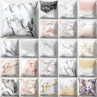 Mermer yaratıcı Yastık Kılıfı Kapak Ev Tekstili Dekorasyon Kanepe Araba Yastık Dekoratif Kapak Pamuk 45 cm 33 Stil 60 adet T1I1129