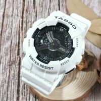 5pcs / mycket nytt märke Mäns armbandsur, Sport Dual Display GMT Digital LED Reloj Hombre Militär Watch Relogio Masculino för tonåringar