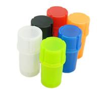 plastik tütün konteyner DHL ücretsiz gönderim 110pcs ile sigara için Renkli Ucuz protable ot değirmeni tütün kuru ot değirmeni