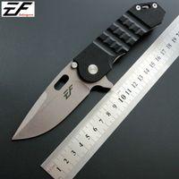 cuchillo plegable de la manija Eafengrow EF36 58-60HRC D2 G10 de la lámina acampa de la supervivencia herramienta Cuchillo de bolsillo caza EDC táctico herramienta al aire ker