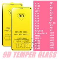 9D completa Pegamento de la cubierta completa de la pantalla de cristal templado protector para Samsung Galaxy M10 M30 M50 S10e A9 PRO A10E A20E A11 A21 A31 A51 A71 A81 A91 M11
