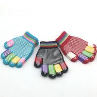 Tricot Enfant Belle Gants magiques Gants enfants élastique tricoter pour les enfants d'hiver Jouer plein air Gants Ski Party Cadeaux RRA2574