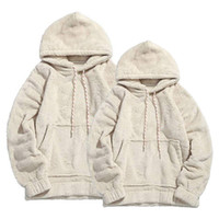 2019 New Style Fashion Hot Männer Winter Warm Dick Hoodie Fleece Mit Kapuze Solide Mit Hut Mantel Top Mit Tasche Outwear