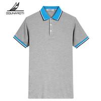 Smart casual placa radiante camisa regular del polo del algodón Ropa de la marca nuevo polo de los hombres de negocios Hombre de manga corta transpirable Tendencia S -3xl