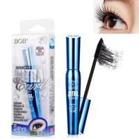 BoB Brand 3D Faserwimpern Rimel Mascara Make-up-Tinte Gel Naturfasern Langlebige, wasserdichte Wimpernverlängerung Dickes Locken