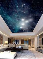Özel 3D Photo Duvar Kağıdı 3D Romantik Güzel yıldızlı gökyüzü başucu çocuk odası 3D Tavan Duvar Kağıtları Ev Dekorasyonu boyama
