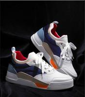 저렴한 디자이너 Low top Aurelien 스니커즈 플랫 우수한 품질 트레이너 패션 남자 브랜드 Red Bottom Sneakers 퍼펙트 캐주얼 워킹화