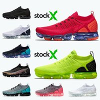nike air vapormax flyknit 2.0 Plus donne scarpe da Red Orbit Volt Grey Triple nero bianco oro Racer Blu Zebra formatori scarpe da tennis correnti