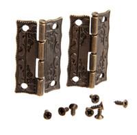 Hot Garden Home дверь шкафа Шарнир Дверные петли для DIY Box Мебельные петли с шурупами 4 отверстия мешка Аксессуар Bronze Tone