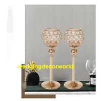 стеклянный дешевый хрустальный подсвечник на продажу для украшения свадьбы decor0924