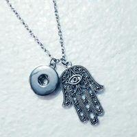 Türkisch Good Luck Schutz Blicks-Hand Hamsa Halskette Lange Metall Halskette Frauen Männer Amulett Schmuck 539