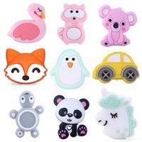 49 Styles de cheval Perles silicone pour le bricolage bébé Teething Collier Accessoires de qualité BPA Baby Animal teether M1960