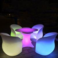 СИД перезаряжаемые lilluminated стул отдыха Кресло светящиеся под руководством барный стул Гостиная Мебель бар диско поставок салон