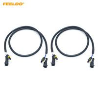 Feeldo 2st Car HID Xenon Amp Extension Cable Wire Harness Adaptrar för högspänning Ballast strålkastare glödlampor tråd # 5991