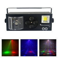 AUCD 4 en 1 RG Laser Gobos Lámpara de luz estroboscópica mixta RGBWY Beam LED DMX Light DJ Party Show Home Holiday Xmas Stage Lighting XMT-132