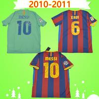 Barcelona jersey barca # 10 MESSI 2010 2011 ريترو جيرسي لكرة القدم بيدرو كيتا قميص خمر الكلاسيكية لكرة القدم كركيتش Camiseta دي فوتبول 10 11 A.INIESTA ديفيد فيا