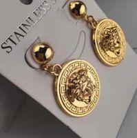 Boucles d'oreilles bijoux de luxe Mode Femmes Hommes Boucles d'oreilles Hip Hop Boucles Earings Glacé Bling Punk Rock Round cadeau de mariage G7628