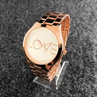 Hot Sale Brand Watches Women Rose Gold Luxury Watch LOVE Sta...