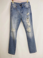 2020 nuovi mens di modo di alta qualità decorazione foro progettista dei jeans ~ US jeans di formato di lusso ~ cime degli uomini jeans firmati magre