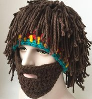Funny and Creative Handmade Hat Wig Beard Hat Autumn and Win...