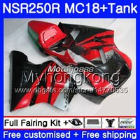 Corps pour HONDA NSR 250 R MC16 NSR250 R RR rouge noir stock MC18 NSR250R 88 89 262HM.30 NSR 250R NS250 PGM2 NSR250RR 1988 1989 88 89 Carénage