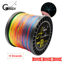 9 Strands Braided Fishing Line 300M 500M 1000M PE Wire Multi...