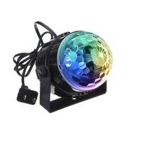 3W mini RGB cristallo Magic Sound Attivato sfera della discoteca della fase della lampada Lumiere del laser del proiettore di Natale degli Stati Uniti UE