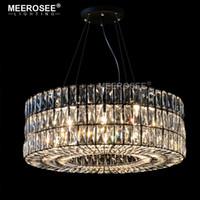 Cristallo moderno vintage lampadario Light Fixture rotonda lampada a sospensione per luce del pendente Restaurant Foyer domestico di cristallo Apparecchi trasporto veloce
