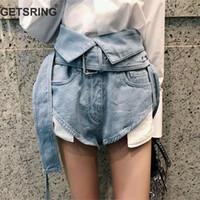 Getsring Denim Pantaloni Jeans a vita alta a vita 2018 New Light Blue Jeans estate Donna Donna All Match Jeans hot con cintura Sml Y190430