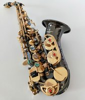 İyi Kalite Profesyonel Kavisli Yeni Soprano Sax Japonya Yanagisawa S-991 B Düz saksafon müzik aletleri Siyah Nikel Altın Nakliye