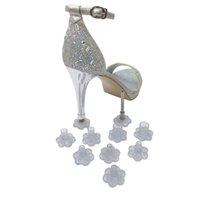 꽃 모양 구두 커버 여성 신발 높은 뒤꿈치 스톱퍼 보호자 발 뒤꿈치 덮개 모자 신부 웨딩 파티