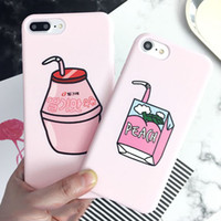 Cartoon Fruit Peach Drinks Phone Case For iPhone XS Max XR X...