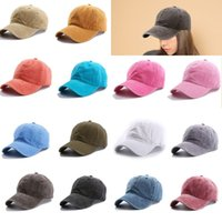 Unisex Casual Cotton Vintage Washed Solid Color Camping Cap ...