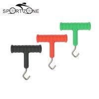 3 stücke Knoten Pulla Werkzeug Knoten Haken Puller für Karpfenangeln Rig Terminal Tackle Making Tool Zubehör