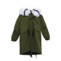 2019 neue frau lange xl parker stil große größe jacke schlank baumwolle mantel weiblichen pelzkragen langen dicken mit kapuze parker wintermantel