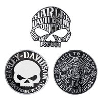 1pcs 3D Metal Skull Stickers Car Motorcycle Stickers 9*9cm A...