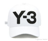 Y- 3 White Curved Snapback Adjustable Hats Embroidered hip ho...