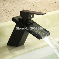 GIZERO Black Waterfall Faucet Bathroom Vessel Sink Mixer Sin...