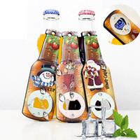 Yaratıcı Noel Bira Şişe Açacağı Moda Buzdolabı Çıkartma Noel Partisi Dekorasyon Ev Mutfak Araçları Malzemeleri TTA2144-2