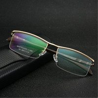 Quadro Ultra-Light liga de titânio vidro Negócios Half Men Rim Óculos Spectacle Quadro Limpar Lens