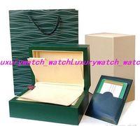 2019 شحن مجاني ووتش مربع الأخضر مربع أوراق رجل هدية الساعات صناديق حقيبة جلدية بطاقة ل R0lex ووتش مربع مع حقيبة