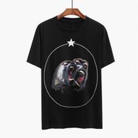 Mens Stylist-T-Shirt Roar Orangutan Affe Kreis-Stern Kurzarm Herren-Frauen-Sommer-T-Shirt Unisex T-Größe S-XL