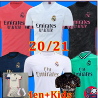 REAL MADRID jerseys 20 21 soccer jersey HAZARD SERGIO RAMOS BENZEMA VINICIUS camiseta football shirt uniforms men + kids kit sets 2020 2021