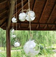 10 cm créatif suspendu vase en verre succulent plante terrarium affichage terrarium, globe décoratif en verre clair, suspendu terrarium plante