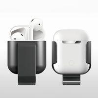 Almacenamiento manga Wireless Auriculares Holder Para aire vainas colgantes en caja AirPods cintura estéreo para auriculares para la caja de la correa AirPods de Apple