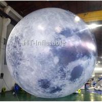 شحن مجاني 8M نفخ في الهواء الطلق العملاق نفخ LED إضاءة القمر الكرة / قابل للنفخ الديكور القمر للبيع