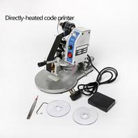 Frete grátis Via DHL! DY-8 Ribbon código do tipo de calor direto Máquina de impressão manual Data de validade Código Printer Hot Foll Stamp Coder