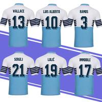 8bd8c9e8e89 New Thiland Lazio Home Blue Soccer Jersey 18 19 Lazio #17 IMMOBILE #21  SERGEJ #19 LULIC #10 LUIS ALBERTO cheap and fine